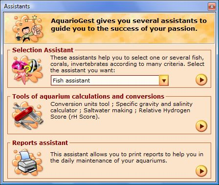 Aquarium fish selection tool